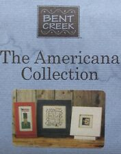 Bent Creek The AMERICANA COLLECTION Set 3 Cross Stitch Charts + Linen Patriotic