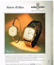 Publicité Advertising 1980 Les Montres Michel Herbelin
