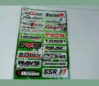 Motorrad Sponsoren Aufkleber - Set size 45x30