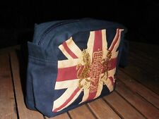 Union Jack Washbag with a Royal Crest