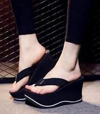 Women's Sexy Heel Platform Wedge Heel Flip Flops Platform Beach Slippers Shoes