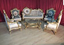 SET BAROQUE STYLE SOFA SET - SOFAS + 4 ARMCHAIRS  #TU11.