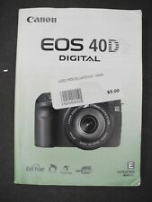 #2 Canon Genuine Eos 40D Digital Camera Instruction Book / Manual / User Guide