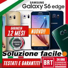 NUOVO! SMARTPHONE SAMSUNG GALAXY S6 EDGE 32GB SM-G925 G925F 12 MESI GAR. ITA TOP
