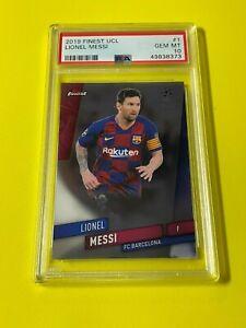 2019-20 Topps Finest UEFA Lionel Messi #1 PSA 10 GEM MINT FC Barcelona LOW POP!