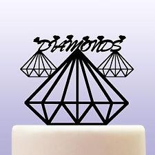 Diamanti Acrilico Pietre Preziose Compleanno Cake Topper Decorazioni & BOMBONIERA ref 2