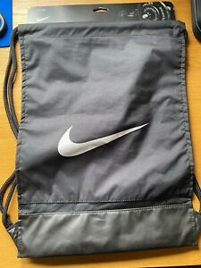 Nike Drawstring gym bag with zipped pocket in black brand new with tags