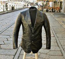 Da Uomo Nero Pelle di Agnello Morbida Pelle Blazer Vera Pelle Cappotto Slim Fit