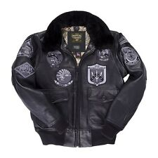 USA Stealth Top Gun Bomber Jacket