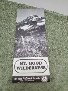 1965 Mount Hood Wilderness Trail Map very good Condition