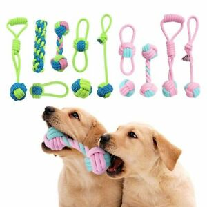 Cotton Rope Dog Interactive Pet Puppy Chew Ball Bite-Resistant Teeth Cleaning
