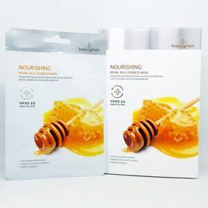 Beauugreen Nourishing Royal Jelly Essence Mask 23g x 10pcs Anti Aging K-Beauty