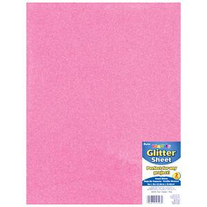 Foamies Glitter Foam Sheet Pink 2Mm Thick 9 X 12 Inches