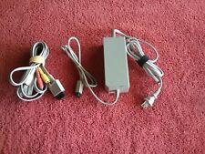 Official OEM Nintendo Wii Power Supply Ac Adapter RVL 002 & AV CABLE