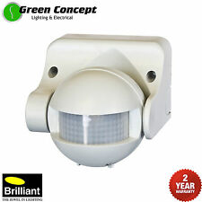 NEW PIR Security Motion Sensor White Outdoor Weather Proof 180 Degree 18060/05