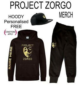 PROJECT ZORGO Chad Wild Clay gaming Youth Kids Snapback &/or hoody &/or Joggies