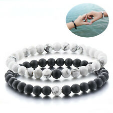 Black Grey Distance Bracelet Best Friend Relationship His Her King Queen Lover