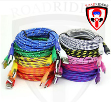 RoadRiders' 10 Feet IPhone Apple Braided Usb Purple Cable Charger
