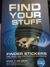 """Sticknfind STICK N FIND """"Find Your Stuff""""Tracker STICKERS PHONE TABLET ANDROID"""