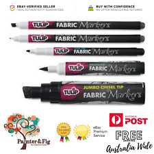 Tulip Black Fabric Markers - Permanent - Variety of Different Nibs and Widths