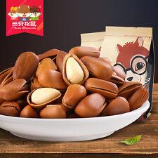 【三只松鼠_开口松子218gx2袋 原味】东北手剥红松子 坚果炒货免運費Chinese Food Snacks Three Squirrels Pine nut