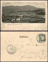 Ansichtskarte Furth im Wald Blick auf die Stadt 1902  ANKUNFTSSTEMPEL MÜNCHEN