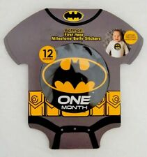 Batman First Year Monthly Milestone Belly Stickers 12 Months 4� Round Baby Gift