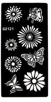 Stencils for Henna Tattoos Self-Adhesive Body Art Temporary Tattoo Temples