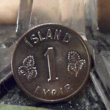 CIRCULATED 1953 1 EYRIR ICELAND COIN (73118)1.....FREE SHIPPING!!!!!