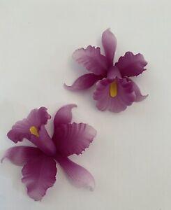 63MM VINTAGE PURPLE PLEXI ORCHID/FLOWER (1 DOZEN/12PCS)