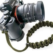 """TogBitz Skinny Strap"" Paracord Camera Wrist Strap - Green - Handmade"