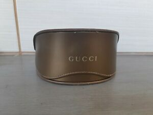 Gucci  Brown Leather Sunglasses only Case box excellent condation