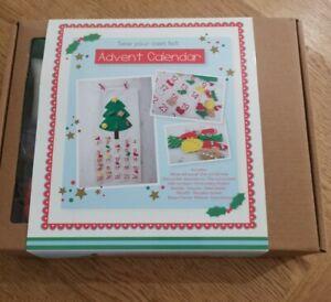 Sew your own felt Advent Calendar Crafting Kit, BNIB