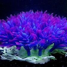 1Pc Purple Fake Plastic Water Grass Plants for Fish Tank Aquarium Ornament UK