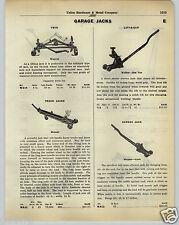 1930 PAPER AD Manley Hydraulic Garage Floor Jack Walker Roll A Car Weaver Curb