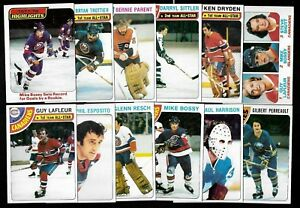 1978-79 TOPPS 78-79 NHL HOCKEY CARD 1-132 SEE LIST