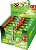 GP SUPER Kit Pile Batterie 5 Blister Stilo AA e Ministilo 1.5V Alkaline 80 PEZZI