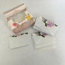 vintage roses envelopes by Stuart Hall  pink rose print mailing envelopes