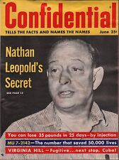 Confidential Vol.6 No.2 June 1958 Nathan Leopold VG 122215DBE