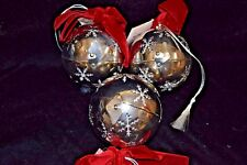New Pier 1 One Silver Pomander Snowflake Potpourri Ball Christmas Ornament Balsa