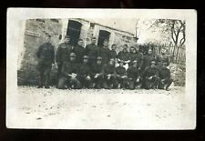 REAL PHOTO-military-soldiers at Guard House in France