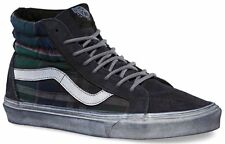 Vans Sk8 Hi Reissue CA Overwashed Plaid Nine Iron Blanc de Blanc Mens 9 Shoes