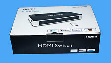 MAPLIN HDMI 3 PORT / WAY SMART AUTO SWITCH WITH REMOTE - HSW0301BN -RRP £29.99