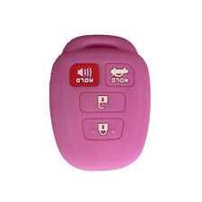Purple 4 Buttons Silicone Key Fob Skin Cover Smart Protector fit for Toyota