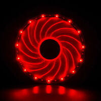 120mm RED Vetroo LED Gaming PC Case Cooling Fan Sleeve Bearing CPU Radiators