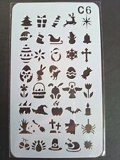 Stencil Symbols Star Cross Shape Cardmaking Scrapbooking Journal Planner Craft 6