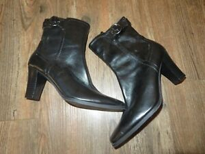 Soft Faux Leather Ankle Boots, Women's - Size 5.5M Black