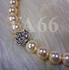 Classic Pearl Necklace Fireball Cream Ivory 18KGP Colors Rantai Mutiara