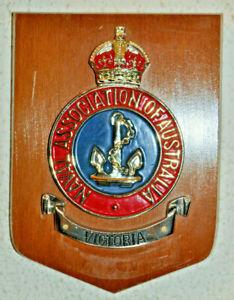 Naval Association of Australia Victoria Section plaque shield Australian Navy