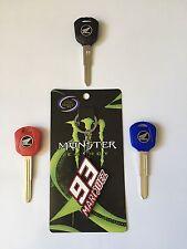 Blank Key Uncut Blade 94-14 Honda CBR 600cc to 1000. #93 Marc Marquez Keychain.